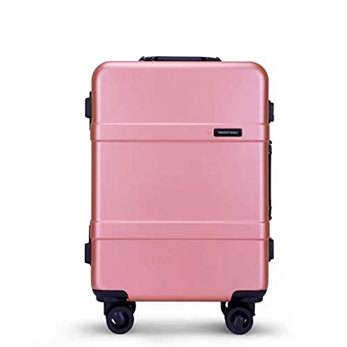 Maleta de Viaje Caja de candado con Carrito de Equipaje de Rueda Universal (Color: Rosa, Tamaño: 22)