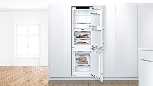 Bosch Frigorífico empotrado con congelador Serie 8, modelo E / 177, altura de nicho de 5 cm, 252 kWh/año, 156 L, compartimento congelador de 67 L, VitaFresh pro/NoFrost