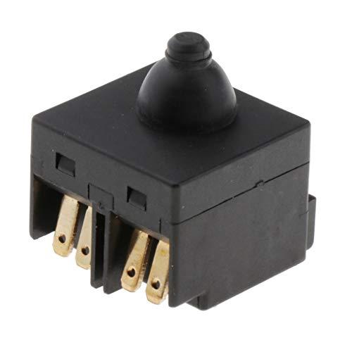 """Fenteer Interruptor de Repuesto Universal Negro para Amoladora Angular 4"""" Piezas de Pulido de 100 Mm"""