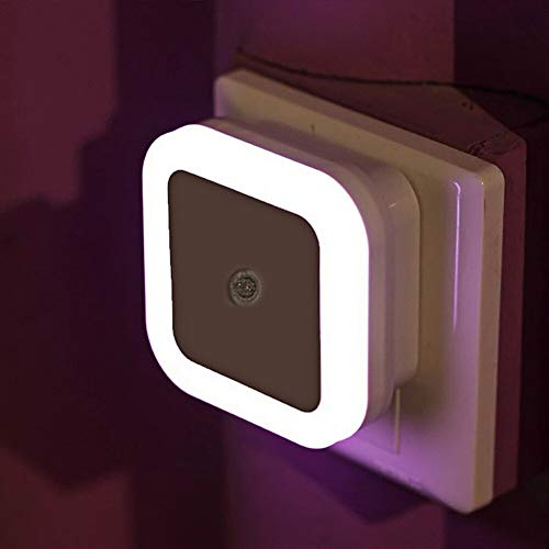 HOME CUBE 1 Pc Mini Smart Control Sensor LED Night Light Energy Saving Lamp for Living Room Bedroom Children Kids Bedroom (White Color Light)