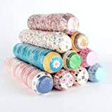 APSAMBR-100pcs Fancy Color Muffin Paper Cups/Liners (Single/Assorted Color/Prints)