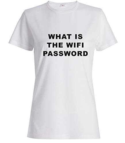 What Is The WiFi Password Funny T-Shirt Camiseta De Mujer Blanca XXL