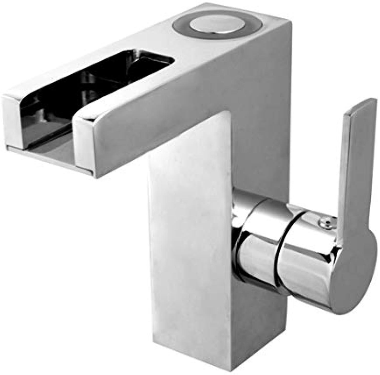 Waschtischarmatur - Chrom Armatur für das Bad · Einhebelmischer · Mit LED-Funktion · Hochdruck     19016