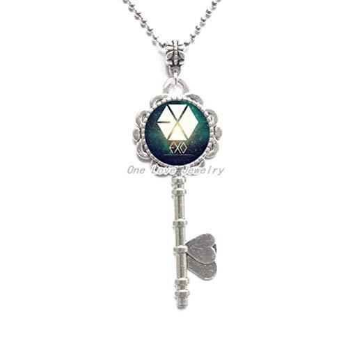 Ni36uo0qitian0ozaap Collar con colgante de estrella, joyería de regalo para fanáticos, foto de cristal, collar de llave, TAP127