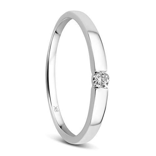 Orovi Mujer 8 k (333) oro blanco 8 quilates (333) IJ Diamond