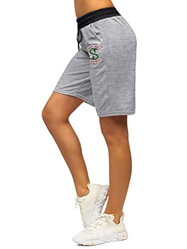 Tomwell Riverdale Southside Serpents Pantalones De Chándal Estampados para Hombres De Las Mujeres Ocasionales Damas Niñas Deportes Yoga Casual Pantalones Largos Gris B E X-Small