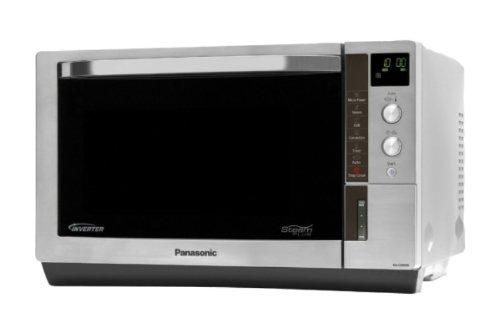 Panasonic NN-CS598SEPG Mikrowelle / 1000 Watt / Grill 1300 Watt / 27 L Garraum / katalytisch beschichtete Garraumrückwand, teilverspiegelte Tür, 2 Reinigungsprogramme / edelstahl