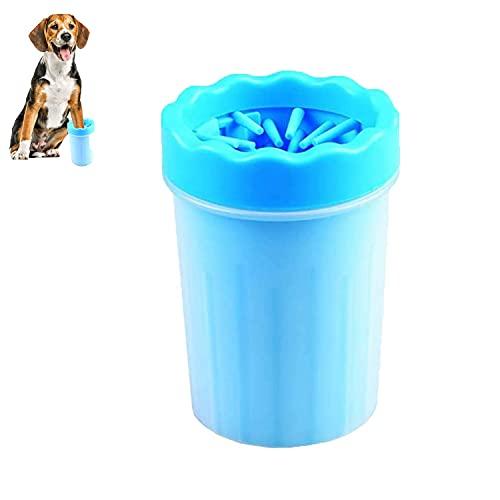 CHANG Limpiador de Huellas de Perro, Lavadora de pies de Perro, Limpia Patas Perro Portátil,Taza de Limpieza para Mascotas, para Limpiar Pies Sucios de Mascotas (Azul)