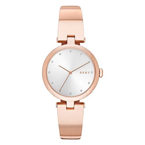 DKNY Damen Analog Quarz Uhr mit Edelstahl Armband NY2711
