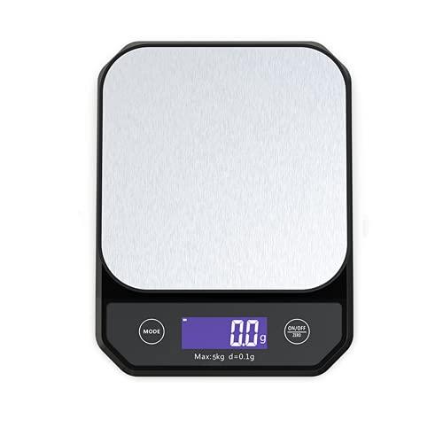 N / B Escala de Alimentos de Cocina Digital, 0.04oz / 11 lbs de Alta precisión, Impermeable IPX7, Carga USB, con Pantalla LCD de luz Trasera, para Hornear para cocinar, Joyas
