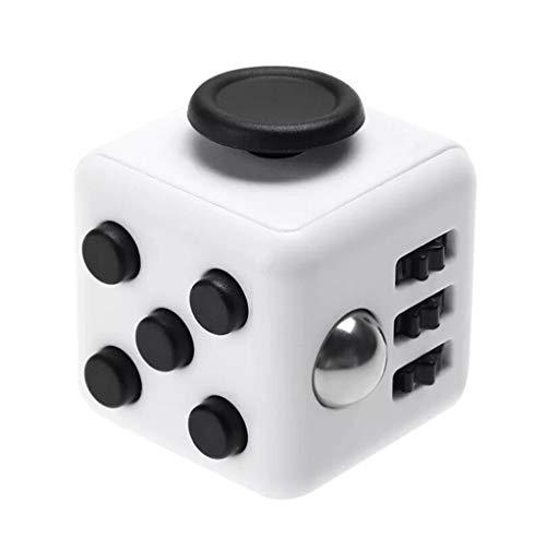 BelongsU Mini Fidget Cube Petits Dés Autisme Besoins Spéciaux Anxiété Jouet Anti-Stress Jouet Sensoriel à Main pour Enfants et Adultes, A