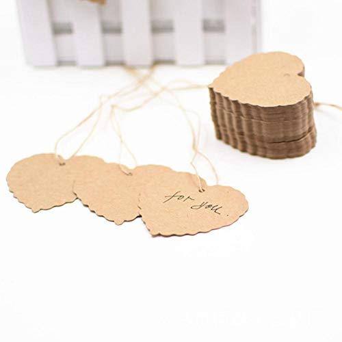 Beesuya Herzförmige Tags - Retro Kraftpapier Herzförmige Tags Für Hochzeitsfeier-Feiertagsdekorationen Improvement