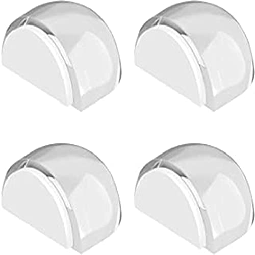 Guardias de parachoques de la manija de la puerta - Paquete de 4 protectores de tapón de puertas flexibles transparentes, soportes de puerta oculta a paredes de tampón y daños de pared de parada: no s
