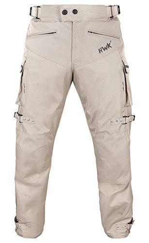 HWK Khaki Motorcycle Pants Adventure Motocross Pants Cargo Pants Work Pants Dirt Bike Dualsport Racing Riding Rain Pants Waterproof Pant (Waist42''-44'' Inseam30'')