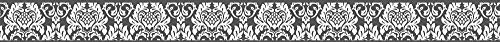 A.S. Création 303893 selbstklebende Bordüre Only Borders 9 Borte, 1 Stück, schwarz, weiß