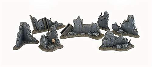 War World Gaming War-Torn City Bauschutt Set - 28mm Tabletop Gelände Landschaft Modellbau Modell Miniatur Diorama Schlachtfed Deckung Versatzstücke Wargaming