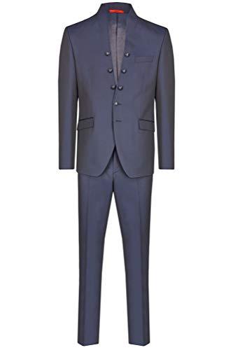 Tziacco Body LINE Hochzeitsanzug Dunkelblau mit leichtem Glanz, taillierter Schnitt Größe 106
