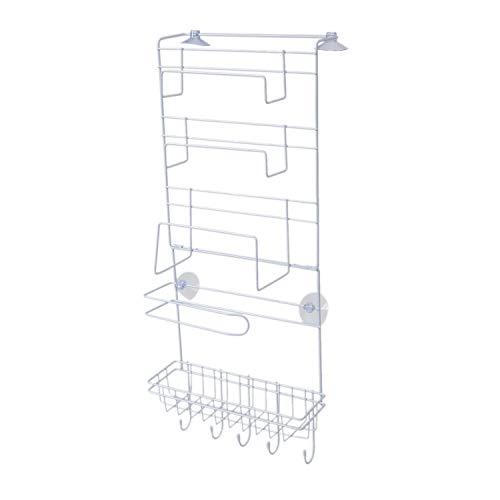 Bayda Estante para colgar nevera, estante lateral de almacenamiento de múltiples capas, soporte para especias y botellas