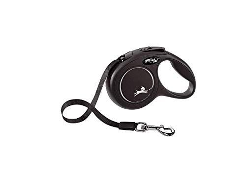 flexi New Classic XS Gurt 3 m schwarz für Hunde bis 12 kg