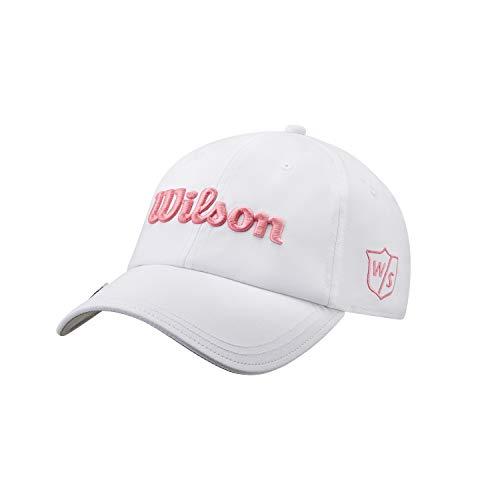 Wilson Damen Golf-Kappe, PRO TOUR, Polyester, Weiß/Pink, Einheitsgröße, WGH7000103