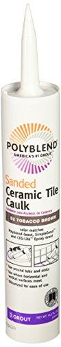 Custom BLDG Products PC5210S-6 Polyblend Sanded CeramicTileCaulk, 10.5 Oz, Cartridge, No 52 Tobacco, Liquid, Brown