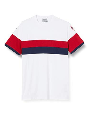 Macron Bfc Merch Ca - Camiseta Cottonpoly BIA/ROJA/Nav Jr, algodón Bolonia FC 2020/21 para niño, Azul, Talla XL