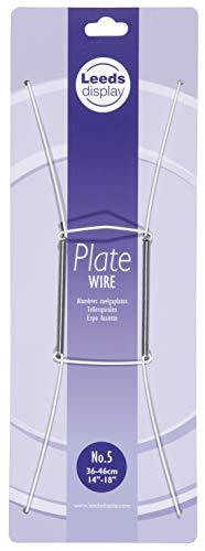 Leeds Display Draht Teller Aufhänger: Weiß mit Aufhänger Nr. 5: 36–46cm, 35,6cm-45,7cm