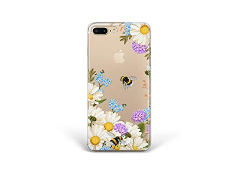 Kaidan Floral Garden iPhone 5 6 6s SE Case Bees XS X XR 11 Pro Max 7 8 Plus Samsung Galaxy S10 S8 S9 Plus Blooming Flowers Note 9 8 Nature A70 A50 Note 10 + Google Pixel 4 3A XL LG G8s Thinq G7 apP588
