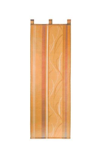 heimtexland Gardinen Schiebegardine Flächenvorhang Flächengardine Schiebevorhang mit 3 Schlaufengleitern, Farbe OrangeStripe, Höhe 175cm x Breite 57cm