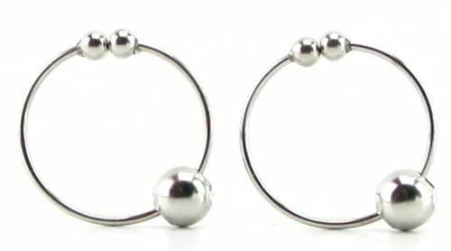 AniJo Beauty Nipple Rings Clamps Set Silver Body Jewelry Non-Piercing ChoiceOfMood24004