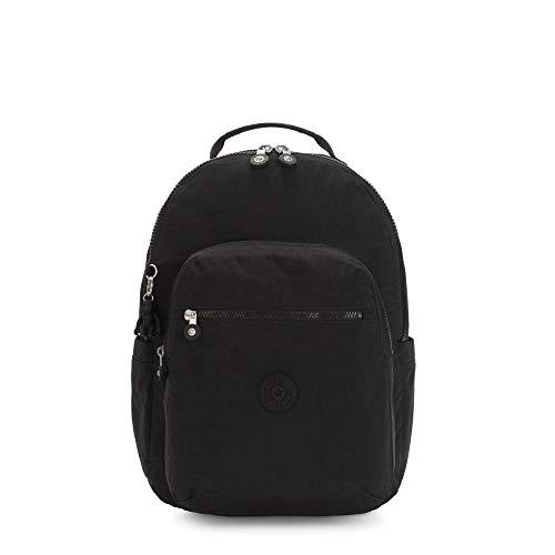 Kipling Women's Seoul Laptop Backpack, black noir, One Size