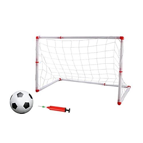 AIHOME portería de fútbol para niños, portería de fútbol interior, con bomba de bola para interiores y exteriores, varios tamaños de configuración rápida