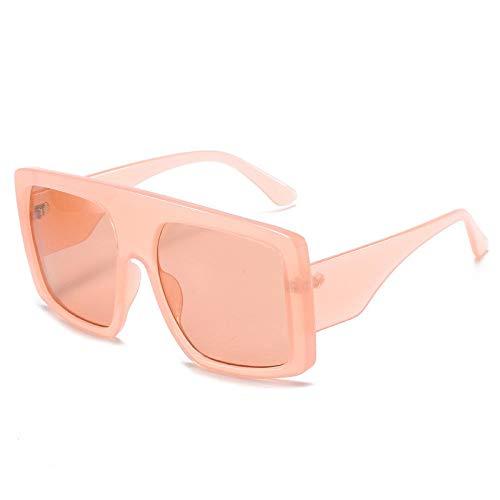 ZYIZEE Gafas de Sol Gafas de Sol de Gran tamaño con Montura Grande Gafas de Sol Planas Grandes para Mujer Gafas graduadas cuadradas de Moda Gafas de Conductor UV400-B