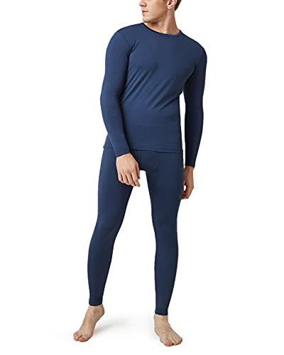 LAPASA Set de Ropa Térmica para Hombre. -Brushed Back Fabric Technique- M11 (S (Detalle en descripción), Azul Ultramar)