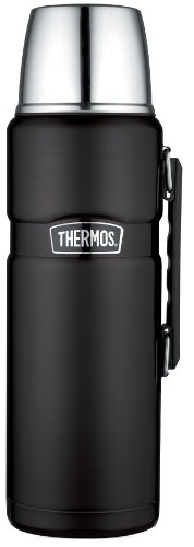 Thermos Stainless King 68 Ounce Vacuum Insulated Beverage Bottle, Matte Black (SK2020BKTRI4)