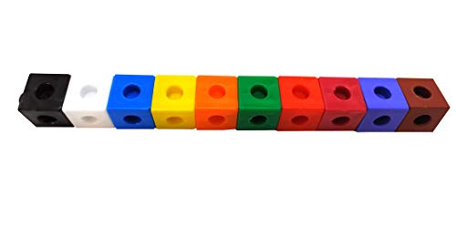 stepstodo pack 100 unifix cubes. 2cm size   100 interlocking counting cubes   linking cubes   snap cubes set of 100 with activity booklet- Multi color