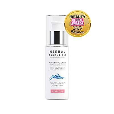 Herbal Essentials Nourishing Cream With Apricot Oil & Aloe Vera, Transforms A Dry Complexion, Lightweight Formulation, All Day Moisture Leaving A Healthy Complexion, Premium Skincare 50ml