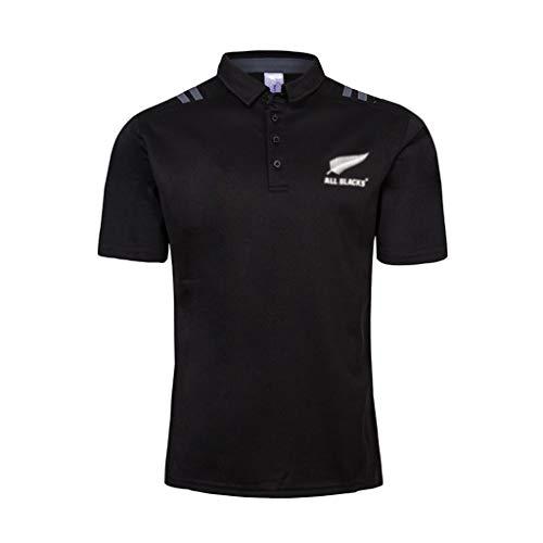 GXHLLYZY Camiseta De Rugby Nueva Zelanda All Blacks Sevens Visitante En Casa 2018-19 Polo De Camiseta De Rugby