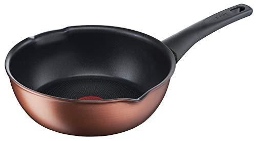 ティファール 炒め鍋 22cm 深型 フライパン IH対応 「IHココアブラウン マルチパン」 チタン・フォースコーティング G26175 ブラウン
