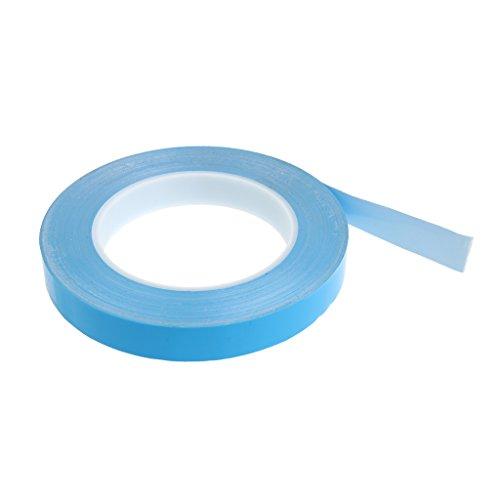 Baoblaze 1 Stück Wärmeleitband Klebemittel und Dichtstoffe Doppelseitige Klebebänder Wärmeleitfähigkeit: 1,5 W/mk - Blau 15mm