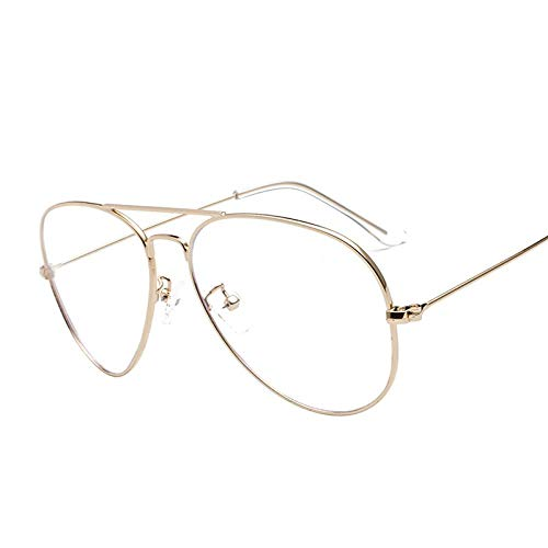 Mode Groot metalen frame Blauw licht Blokkerende bril voor dames Heren Mobiele telefoon Oogbescherming Anti-blauw RayOptical Eyewear A