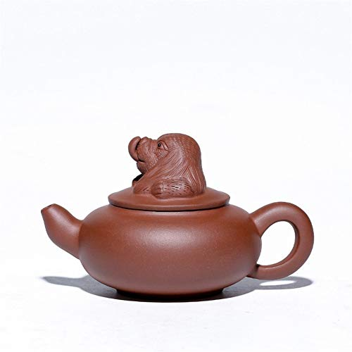 SHENTIANWEI Hund Hunde Boutique Teekannen Erz lila Tontopf Topf Tier Skulptur Teekanne (Color : Purple mud)