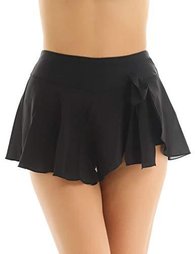 inlzdz - Falda Corta para Mujer, Patinaje artístico, Patinaje sobre Hielo, Gimnasia, Danza, Mujer, Color Negro (, tamaño 44
