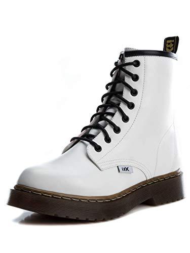 XTI Damen 49144 Kurzschaft Stiefel, Weiß (Blanco Blanco), 39 EU