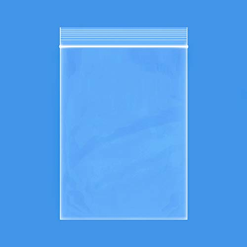 Edvision 2' x 3' Plastic Bags, 200 Count 2 Mil Clear Resealable Zipper Poly Bags, Reclosable Ziplock Storage Bags for Jewelry Supplies, Beads, Screws, Small Items