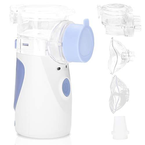 VINGO Tragbar Vernebler Inhalator,inhaliergeräte für Erwachsene,Inhalationsgerät mit Mundstück und Maske für Kinder und Erwachsene, ultraschall vernebler,vernebler inhalator ultraschall