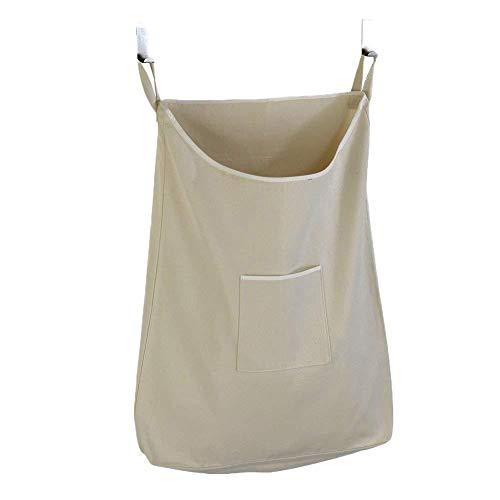 """Neborn Bolsa de lavandería para Colgar en la Puerta portátil Bolsa de lavandería para Colgar en la Pared Que Ahorra Espacio con 2 Ganchos(20\""""x30\"""") (Caqui)"""