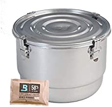 """8-Liter Commercial CVault Container - 10"""" x 7"""" - Includes Two 60g Boveda Humidipaks"""