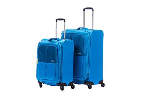 Roncato Set 2 Trolley Young - cm. 67 x 44 x 26-30 cm. 55 x 36 x 30 Leggero Espandibile Chiusura TSA Lucchetto con combinazione Organizzatore interno 2 Anni di Garanzia