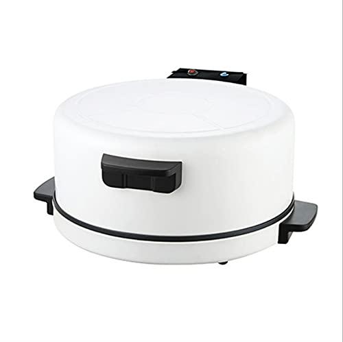 GDYJP Pizza Maker Electric Hornear Pan Crepe Maker Skillet Pancake Máquina de Hornear Pie Máquina de Fabricante de Pan árabe (Color : White, Tamaño : One Size)